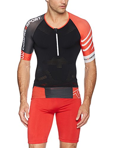 Compressport Triathlonshirt TR3 Aero Top, Schwarz, L (Shirt Aero)