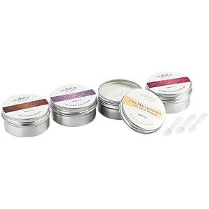infactory Kerze: 3in1-Massagekerzen: Licht, Duft & Massageöl, 4 Stück (Teelicht mit Duftöl)