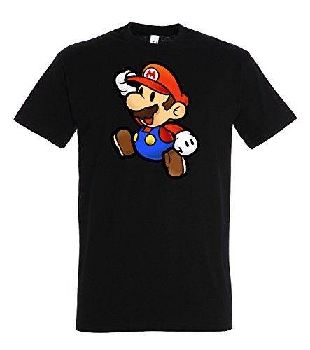 TRVPPY Herren T-Shirt Modell Super Mario, Schwarz, 4XL -