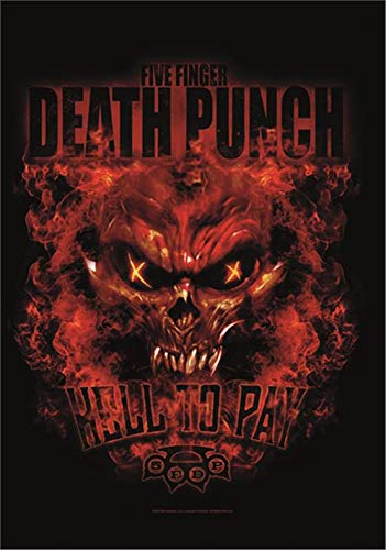 Heart Rock Licensed Flagge 5Finger Death Punch-Hell to Pay, Stoff, Mehrfarbig, 110x 75x 0,1cm - 110 Punch