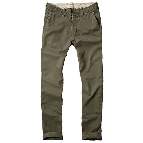 Hollister -  Pantaloni  - Straight  - Basic - Uomo Verde Verde oliva