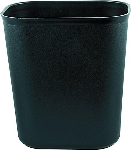 Papierkorb Kunststoff eckig schwarz