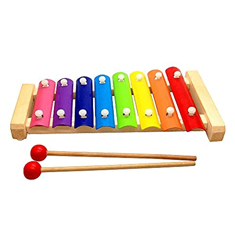 Wooden Multi-Color Xylophone Wooden Musical Instrument Toys