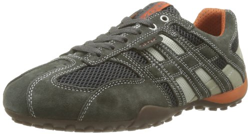 Geox Uomo Snake K, Baskets basses homme , Gris (DK GREY/OFF WHITEC1300) , 41
