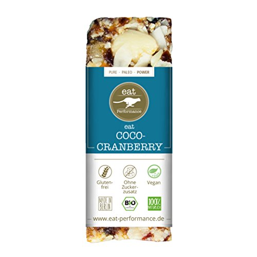 ENERGIE RIEGEL COCO CRANBERRY (40g) von eat Performance || Bio | Paleo | ohne Zuckerzusatz | glutenfrei | laktosefrei | low carb | eiweißreich | superfood | clean eating