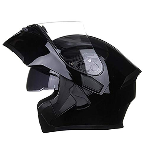 SDKUing Motorradhelm, Mopedhelm Klapp Helme Flip-up Integralhelme Full-Face Scooter-Helm Motocrosshelme Damen Und Herren Mit Doppelvisier - DOT Genehmigt