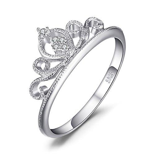 JewelryPalace Anillo Circonita forma Corona