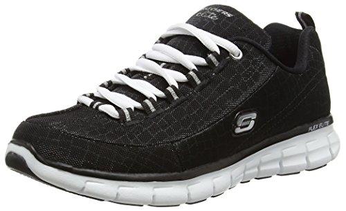 Skechers Synergy Style Watch, Women'S Low-Top Sneakers, Black (BKW), 4 UK (37 EU)
