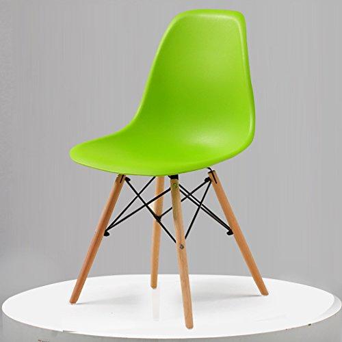 PLL Einfache Freizeit Möbel Restaurant Stühle Startseite Kreative Stuhl Zurück Nordic Stühle (Color : Green)