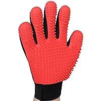 AWINNER [Upgrade Version Pet Grooming Glove - Gentle Deshedding Brush Glove - Efficient Pet Hair Remover Mitt - Enhanced Five Finger Design - Perfect for Dog & Cat with Long & Short Fur
