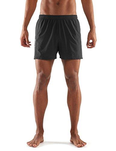 Skins Herren Activewear Network 4 Zoll Shorts, Black, L (Shorts Activewear)