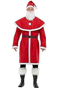 Smiffys 60001XL - Disfraz de Papá Noel para hombre, talla XL, 116,8-121,9 cm, color rojo