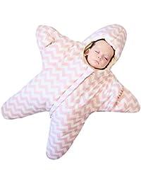 WUYEA Manta Envoltura para bebé recién Nacido Saco de Dormir del bebé Manta Envuelta en algodón