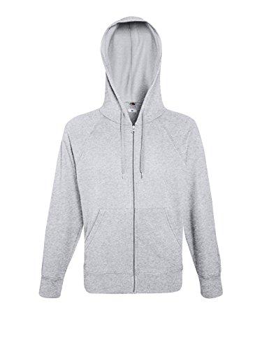 Fruit of the Loom Herren Kapuzenpullover Lightweight Hooded Sweat Jacket Heather Grey