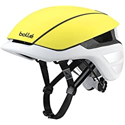 Bollé The One Premium Cascos Ciclismo, Unisex Adulto, Matt Yellow/White, 54-58 Cm