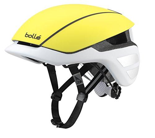 Bollé (CEBF5) 31638 Casco Ciclismo, Unisex Adulto, Amarillo (Mate) / Blanco, 51-54 cm