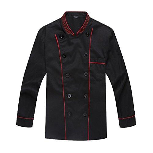 chaqueta-de-chef-manga-larga-negro