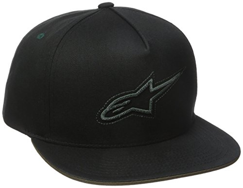 Alpinestars Herren Link Logo Flexfit Curved Bill Flex Back Flat Hat und Beanie, Black, One Size (Herren Flex Link)