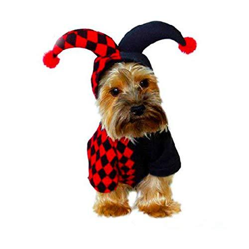 Kunliyin YY1 Clown-Kleidung für Hunde Herbst und Winter Weihnachten Halloween Transformationen