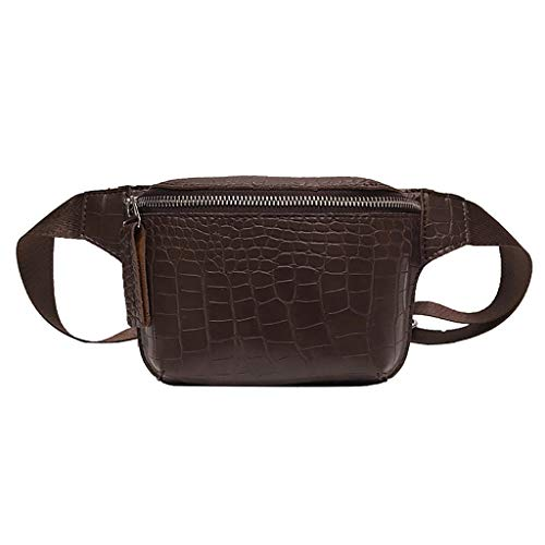 Lenfesh Gürteltasche Damen Bauchtasche Schwarz Simple Mini Gürteltasche Fashion Hüfttasche Packs Umhängetaschen Handytasche Brieftasche Brusttasche -