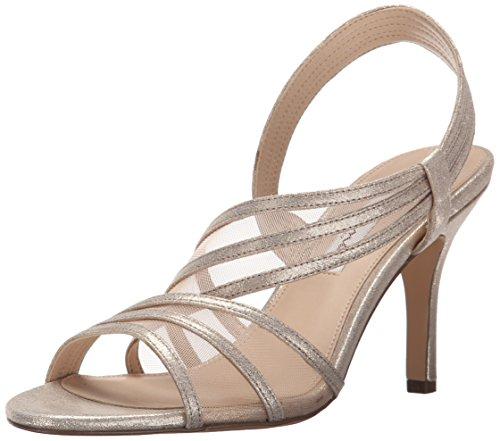 Nina Women's Vitalia Dress Sandal, Taupe, 6.5 M US (Heels Open Nina Toe)