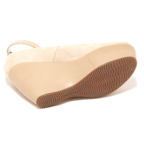 42688 decollete spuntato HOGAN zeppa scarpa donna shoes women Beige