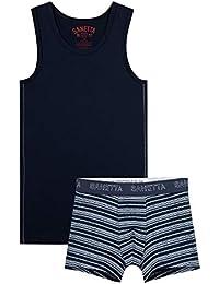 Sanetta - Conjunto de ropa interior para niño (2 piezas)
