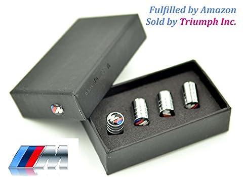Triumph®(Versand durch Amazon) BMW M3 Rad-Reifen-Gummireifen-Metall-Legierung Air Stem Ventilkappe Geschenkkastensatz