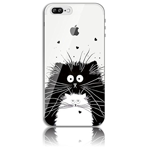 iPhone 7 Plus Silikon Hülle,iPhone 7 Plus Hülle,Sunroyal TPU Case Schutzhülle Silikon Crystal Kirstall Clear Case Durchsichtig,Cute Lovely Funny China Panda Ballon Malerei Muster Transparent Weichem S Pattern 05