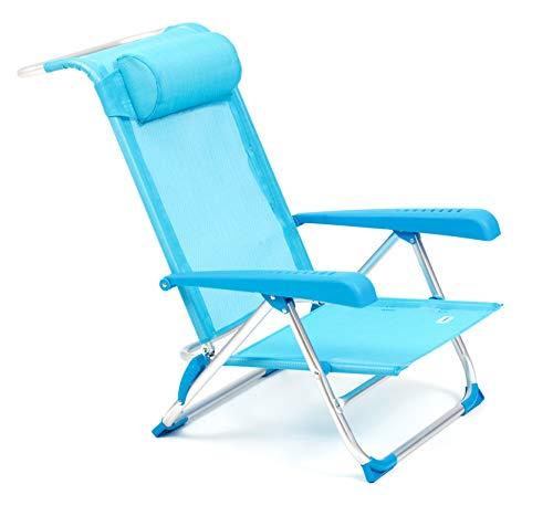 Fiesta tahiti spiaggina textilene, alluminio anodizzato, azzurro