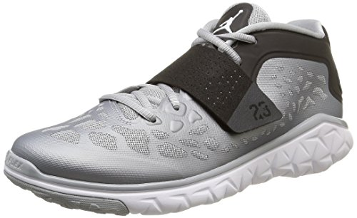 Nike Jordan Flight Flex Trainer 2, Baskets Hautes Homme gris (Wolf Grey/White-Black)