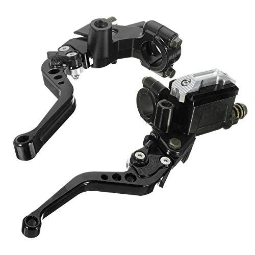 Hinterradbremse Set 7/8 zoll 22mm CNC Universal Motorrad Bremskupplung Geberzylinder Hebel Reservoir