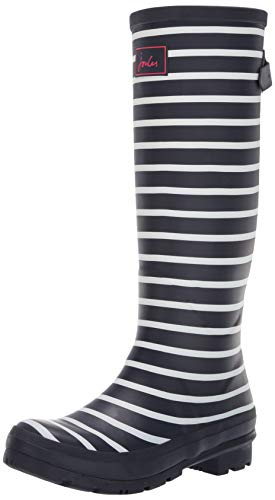 Tom Joule Joules Damen Wellyprint Gummistiefel, Blau (French Navy Stripes Fnavstp), 39 EU