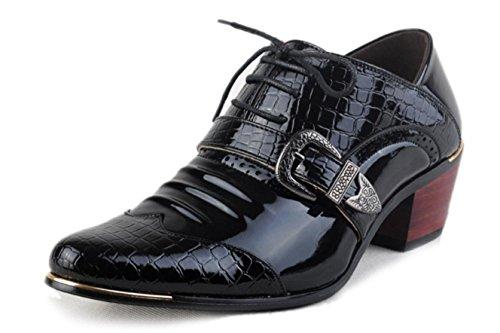 NSPX Scarpe da ginnastica English Ladies Scarpe Uomo Donna Uomo Scarpe Casual Scarpe Stylist Pointed , black , 43 39-BLACK