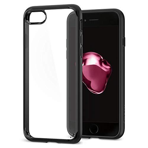 Funda iPhone 7, Spigen [Ultra Hybrid 2] Cámara reforzada y botón de protección [Negro] Segunda generación Ultra híbrida One Piece Funda transparente para teléfono PC transparente Funda con TPU de silicona Funda para iPhone 7/iPhone 8 - Negro (042CS20926)