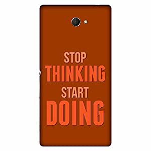 Bhishoom Designer Printed Back Case Cover for Sony Xperia M2 Dual :: Sony Xperia M2 Dual D2302 (Start Stop :: Attitude :: Typography :: Positive :: Motivational)