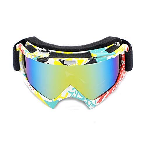 Epinki Unisex PC Motorradbrillen Radsportbrille Snowboardbrille Schutzbrillen Schneebrille Outdoor Schutz Brille für Motorrad Fahrrad Helmkompatible, Regenbogen