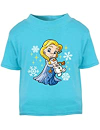 Elsa de Frozen camiseta infantil de princesa Top Kids camiseta niña regalos de cumpleaños regalos cumpleaños