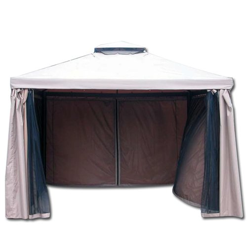 Homegarden set 4 teli laterali per gazebo shara