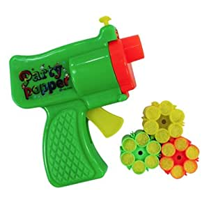 M Konfetti-Pistole PARTY POPPER inkl. 18 Schuss - Farbe nach Zufall