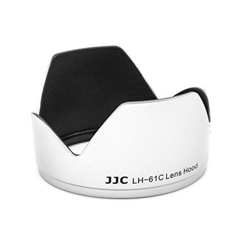 vhbw Kunststoff Gegenlichtblende Streulichtblende Sonnenblende 58mm schwarz/Silber für Objektiv Olympus M.ZUIKO DIGITAL ED 40-150mm f4.0-5.6