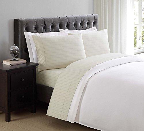 Charisma 310Fadenzahl Tabelle-Sets und Kissenbezüge, baumwolle, Almond Milk Stripes, Default Pillowcase