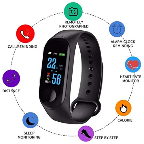 AGMS M3 Smart Bracelet Or M3 Band Color-Screen IP68 Fitness Tracker Blood Pressure Heart Rate Monitor Smart Band Smart Watch Men and Women for Android iOS