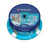 Verbatim vb-crd19s2Pa–CD-RW Rohlinge (CD-R, 700MB, 25Stück (S), 120mm, 2,1cm, 52x)