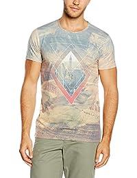 Esprit 056ee2k019 - Sublation Print - Slim Fit - T-shirt - Homme