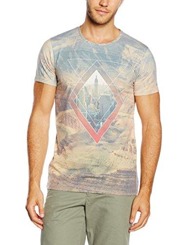ESPRIT Herren T-Shirt Mehrfarbig (WHITE 3 102)