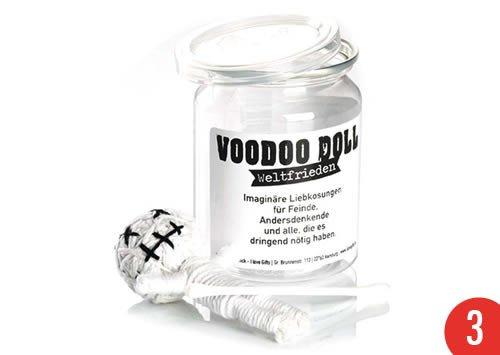3er-Pack: Voodoo Doll in Dose +++ LUSTIG von modern times +++ WELTFRIEDEN - VOODOO-DOLL +++ I LOVE GIFTS