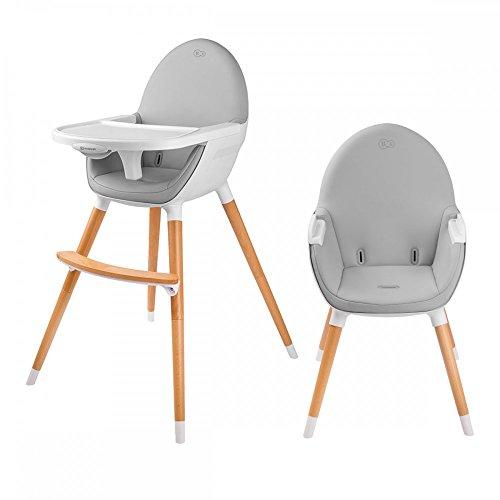 FINI chaise haute bébé 2en1 style scandinave nordique Blanc