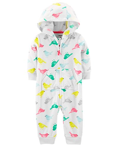 Carter's Baby Girls' One Piece Fleece Jumpsuit Bird, 3 Months Carters Jumpsuit