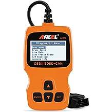 ANCEL AD310 OBD II Lector de Código de Coche Vehículo Automotriz OBD2 Escáner Herramienta de Análisis de Diagnóstico - Naranja